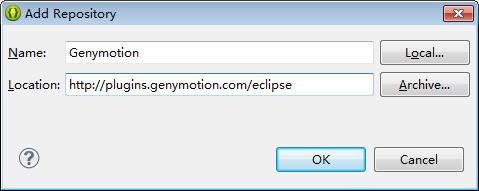 Genymotion-eclipse-plugin插件安装