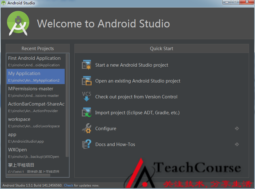 001-Welcome to Android Studio