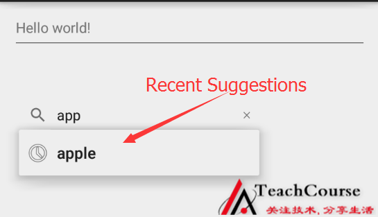 001-display recent query suggestions
